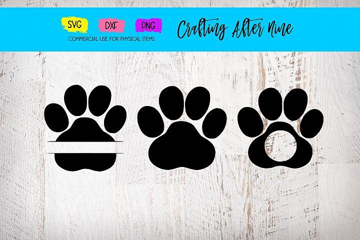 Paw Print SVG Cut Files, Svg Designs, Vet PNG Image, Pawprin