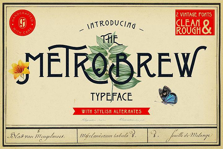 Metrobrew Vintage Font