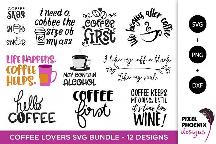 Download Coffee Lovers SVG Bundle - SVG PNG DXF