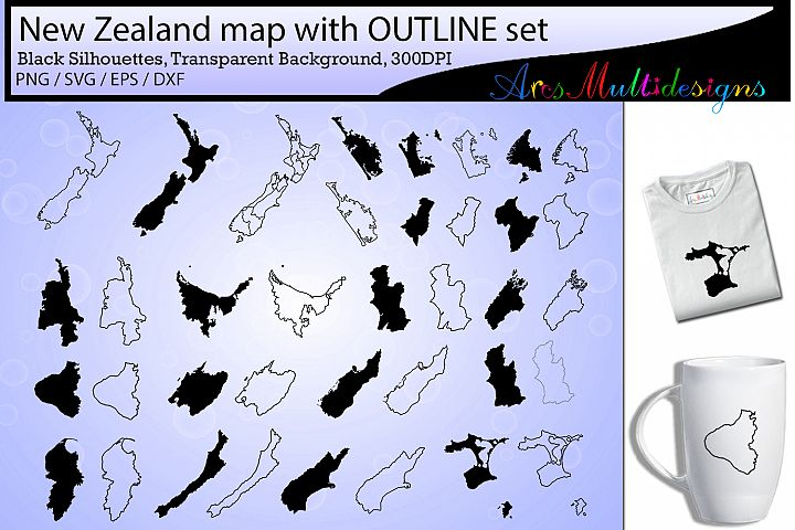 New zealand provinces / new zealand map / newzealand outline