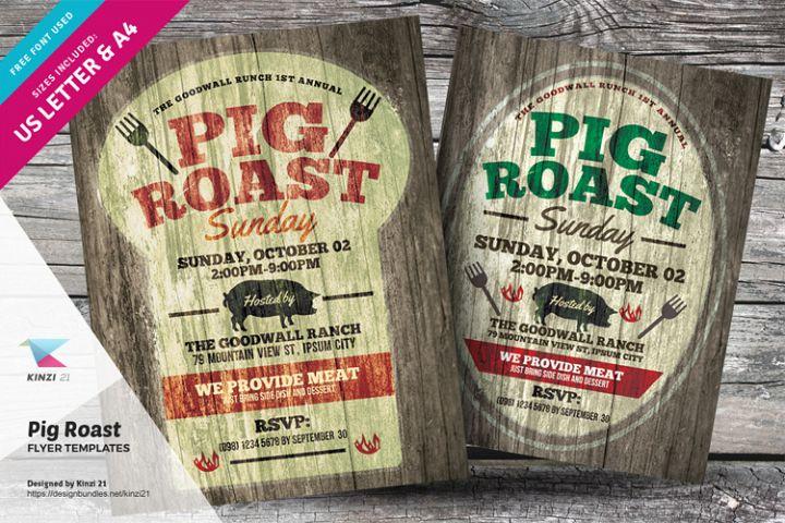 Pig Roast Flyer Templates