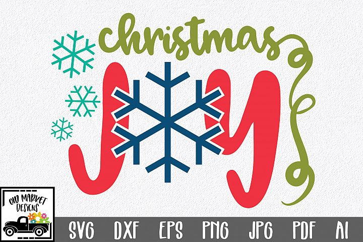 Christmas SVG Cut File - Christmas Joy SVG DXF EPS PNG PDF