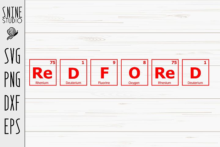 Red For Ed Chemistry Periodic Table for School SVG Cut File