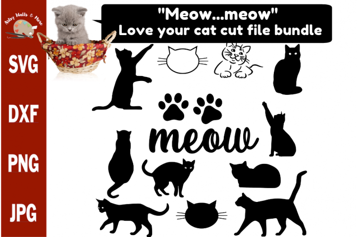Cat bundle svg, Love your cat bundle, cut files for crafters