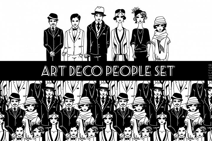 Set of Art Deco people.