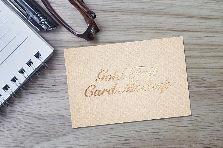 Gold Foil Card Mockup