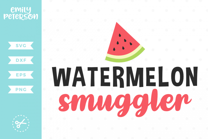 Watermelon Smuggler SVG DXF EPS PNG