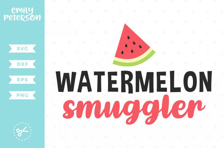 Watermelon Smuggler SVG DXF EPS PNG