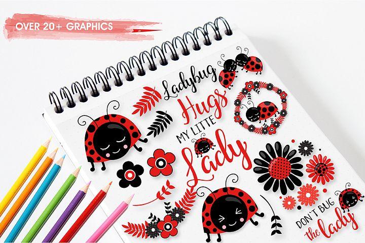 Little ladybug graphics and illustrations - Free Design of The Week Design2