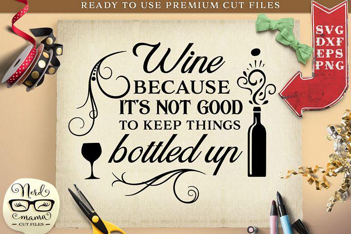 Wine Quote SVG Cut File
