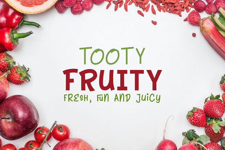 Tooty Fruity - Font Duo - Free Font of The Week Font
