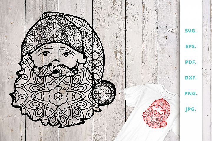 Santa Claus Zentangle SVG | DXF