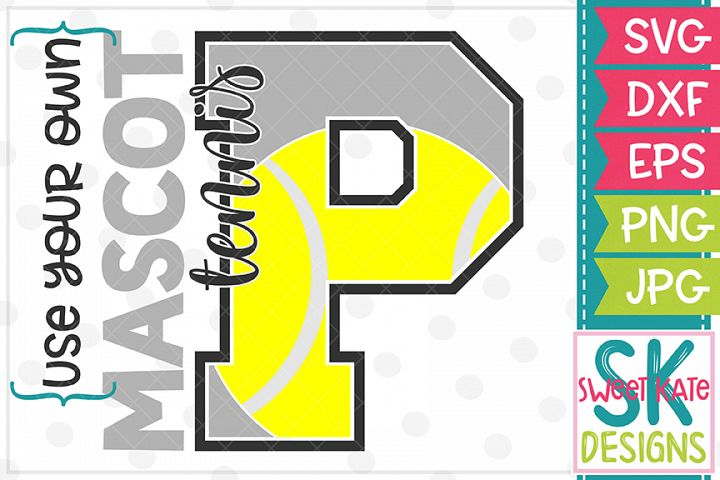 Your Own Mascot P Tennis SVG DXF EPS PNG JPG