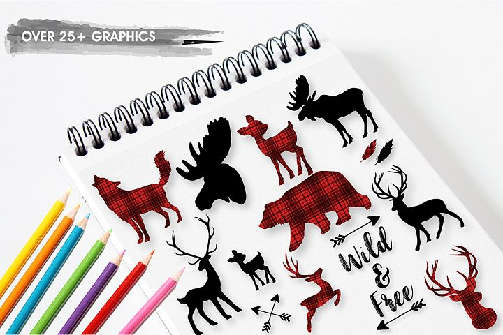 Woodland cabin graphics and illustrations - Free Design of The Week Design3
