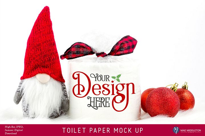 Toilet Paper Roll Mock up for Christmas