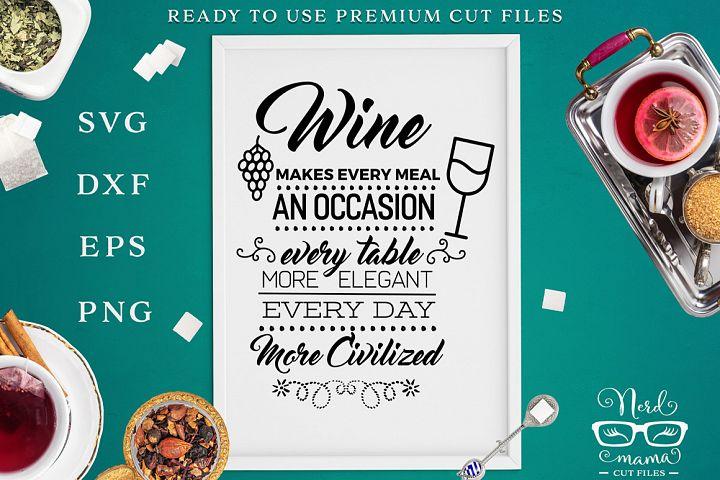 Wine Poster SVG Cut File