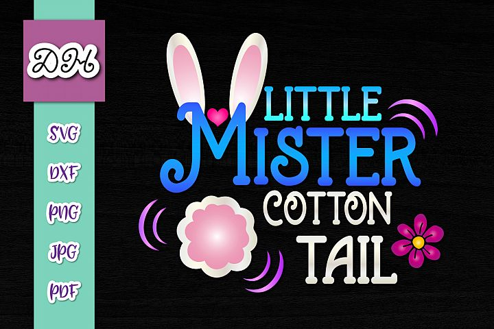 Little Mister Cotton Tail Easter Rabbit Boy Print & Cut