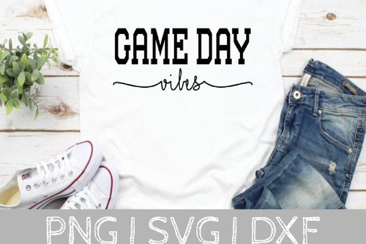 Game Day Vibes SVG Cut File