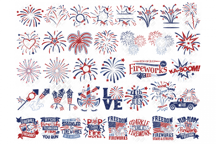 Fireworks SVG Bundle in SVG, DXF, PNG, EPS, JPEG