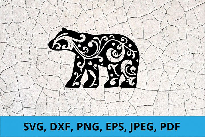 Bear Paper Cut SVG / DXF / EPS Files