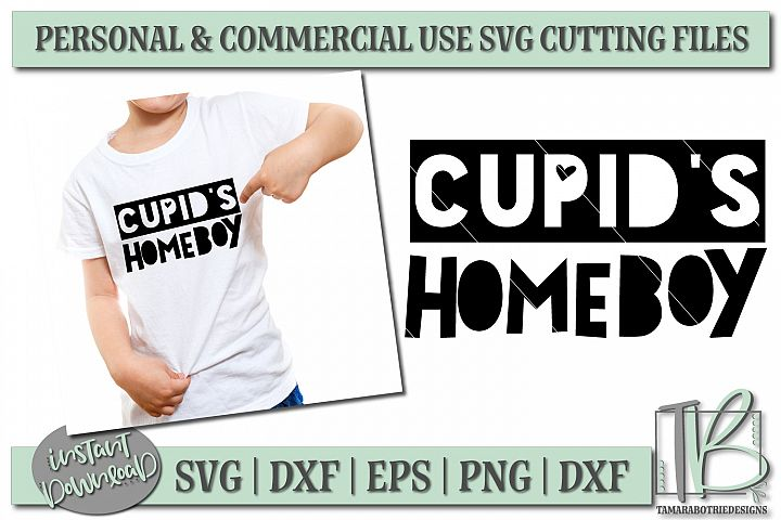 Cupids Homeboy SVG File, Boys Valentine SVG Cut File