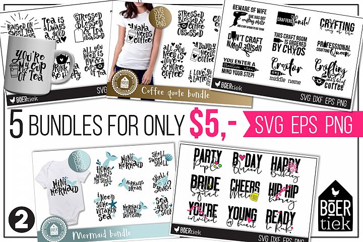 5 bundles for only $5! Part 2