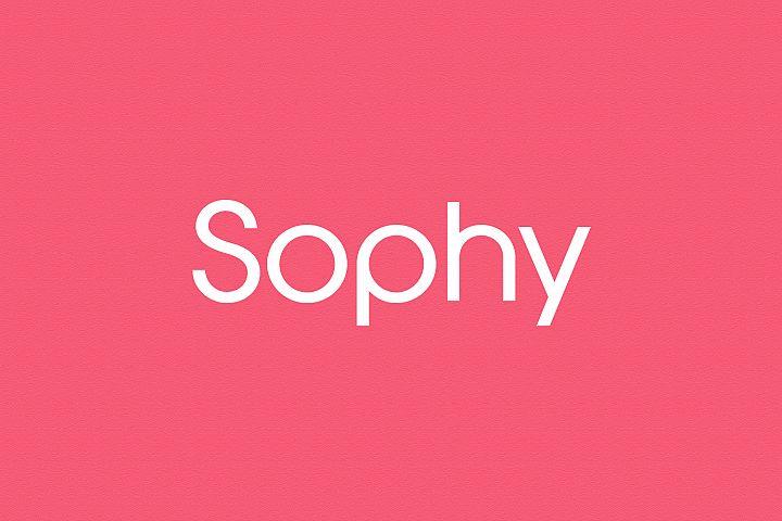 Sophy - Logo Design Font