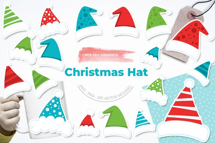 Christmas Hat graphic and illustrations