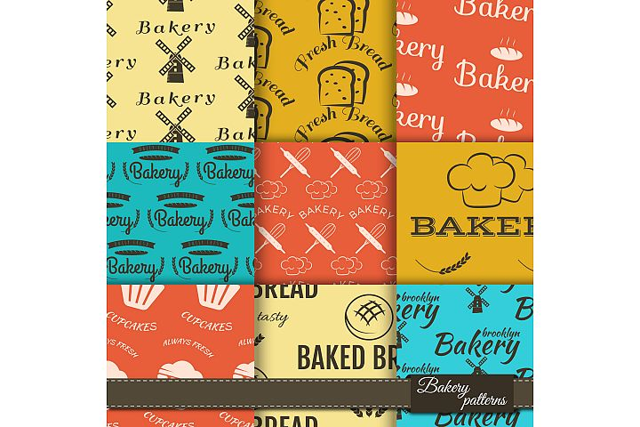 Bakery Banners & Seamless Patterns example 1