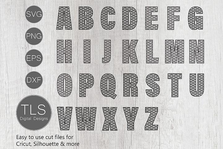 Geometric Pattern Letters A - Z SVG, Letters A - Z SVG