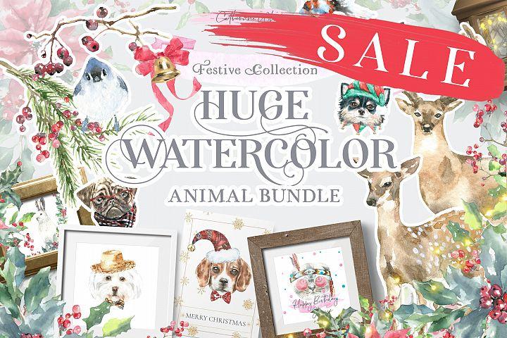 Watercolor Animals Bundle Sale 13 in 1