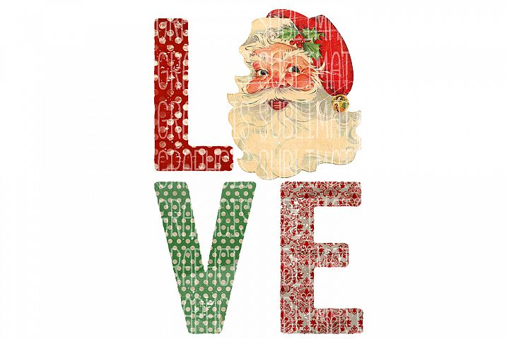 Santa Love Sublimation Digital Download