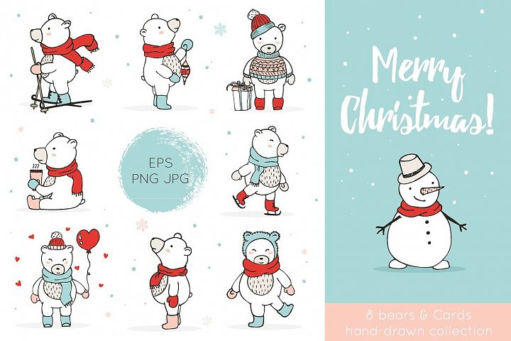 Christmas Bears Icons & Cards