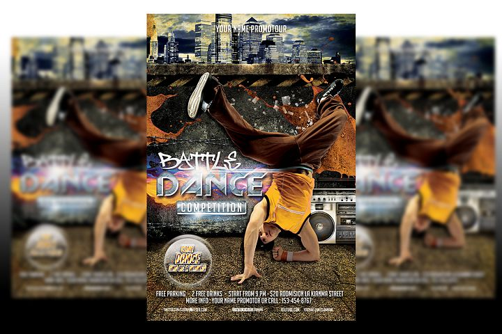 Dance Battle Flyer Template