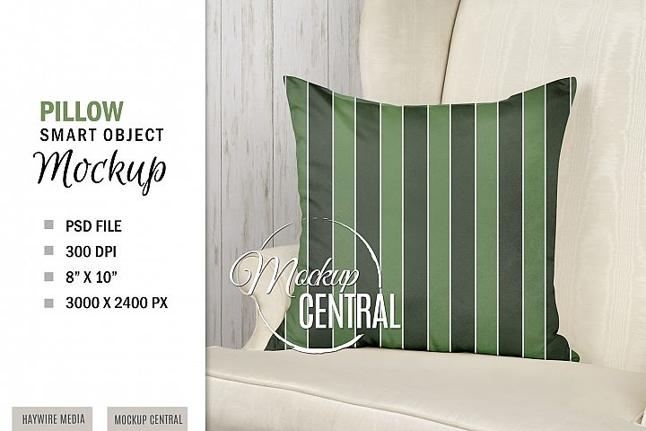 Sublimation Pillow Chair Mockup, Smart Object PSD File