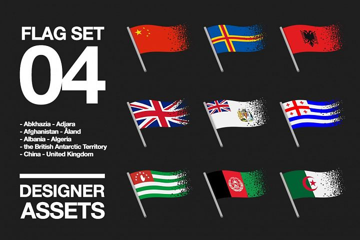 National Flag Vector AI and CDR Sparkle Vol. 4