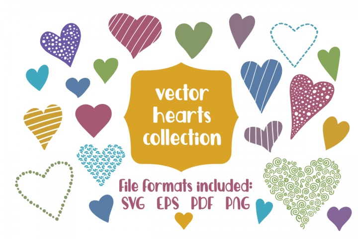 Vector Hearts Collection - 22 Vector Shapes