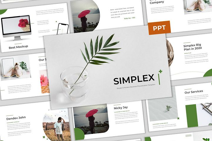 Simplex - Simple & Modern Business PowerPoint Template