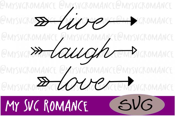 Arrow Set - Live - Laugh - Love- SVG