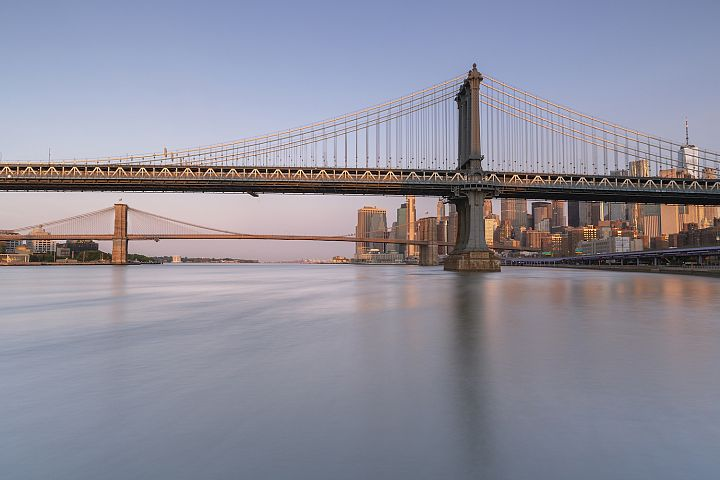 East river view at sunrise