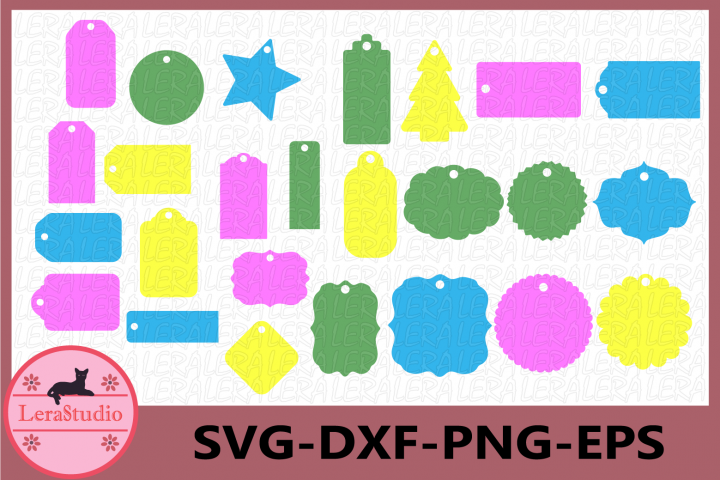 Gift Tags Svg, Labels Svg, Tags Vector Clipart, Banner Svg