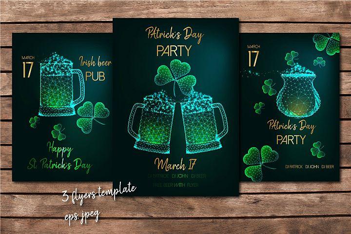 St. Patricks Day flyers.