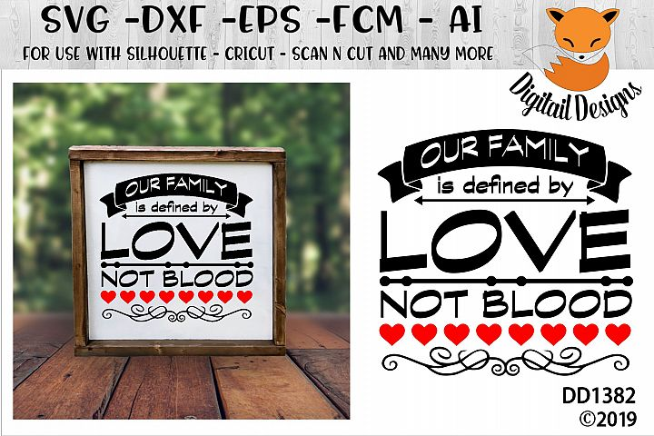 Our Family Is Defined By Love Adoption SVG