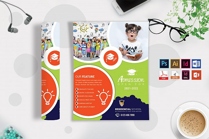 School Flyer Template Vol-10