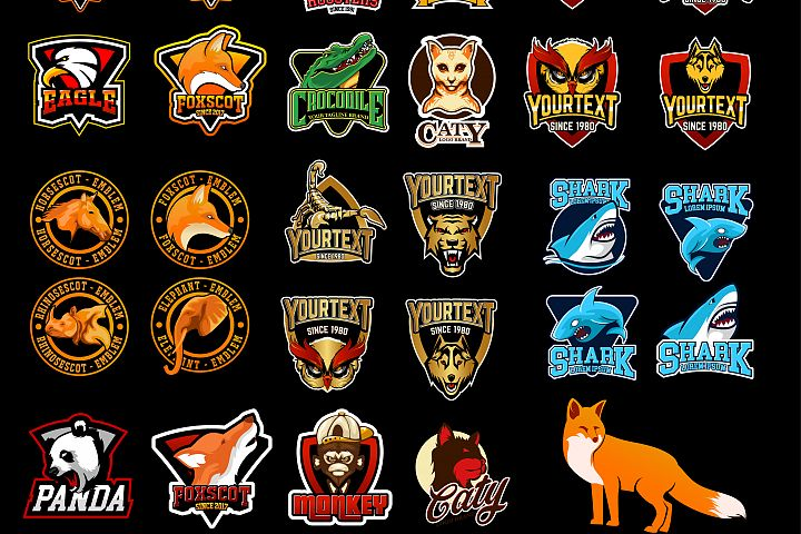 29 EMBLEM LOGO BADGES