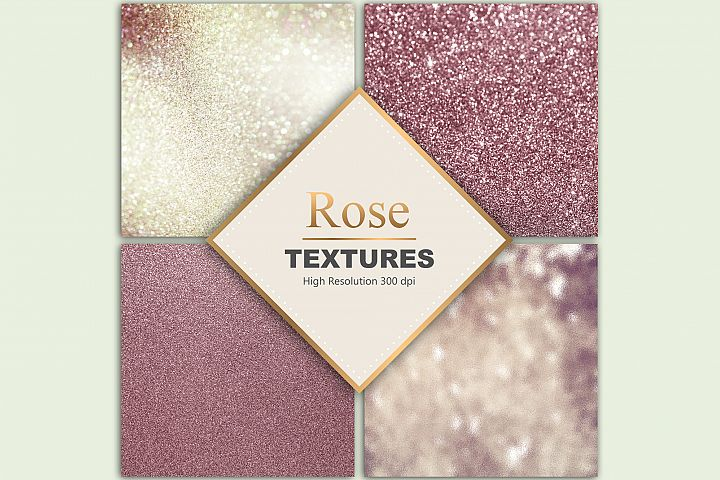 Rose Gold Glitter Textures
