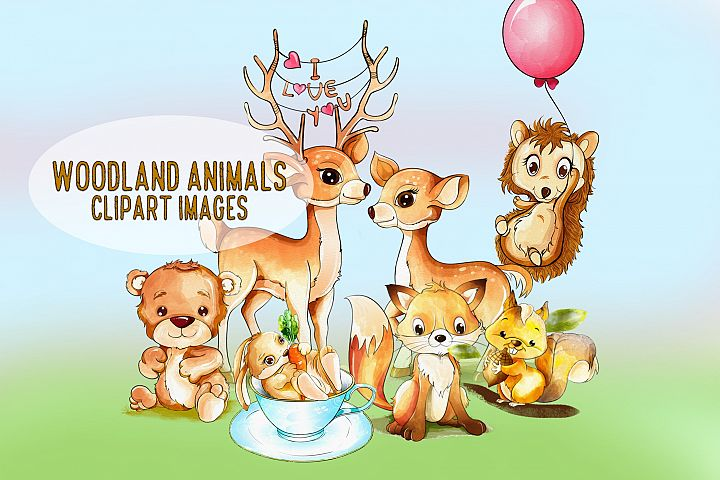 Woodland Animals Clipart Images by Whimseez