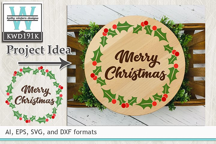 Christmas SVG - Holly Wreath