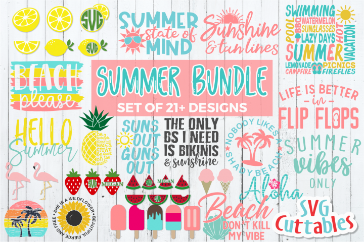 Summer Bundle   Shirt Designs   SVG Cut File