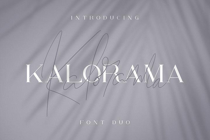 Kalorama - Font duo